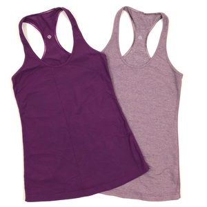 Bundle of 2 Lululemon purple Cool Racerback tanks